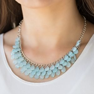Paparazzi Next in Shine Blue Necklace Set